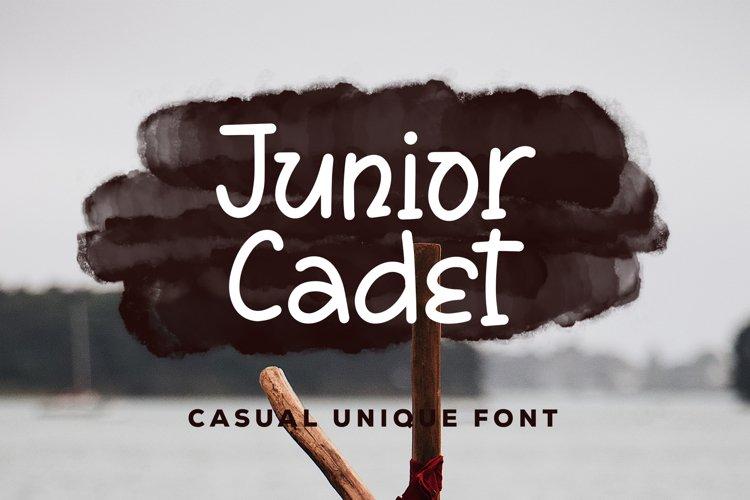 Junior Cadet - Casual Unique Font example image 1