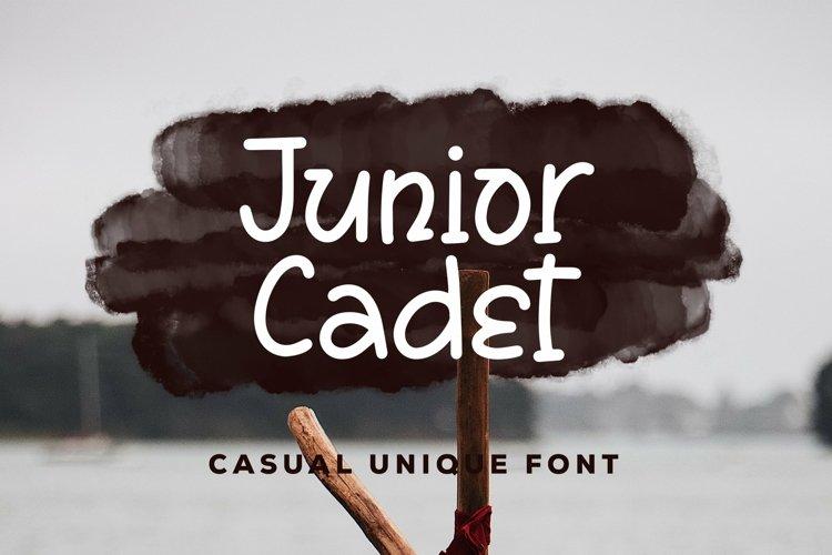 Web Font Junior Cadet - Casual Unique Font example image 1