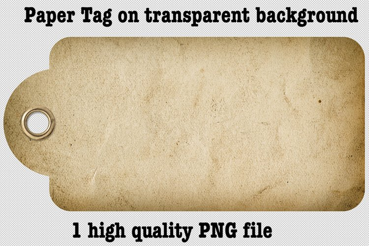 Junk Journal scrapbook element. Used paper tag PNG