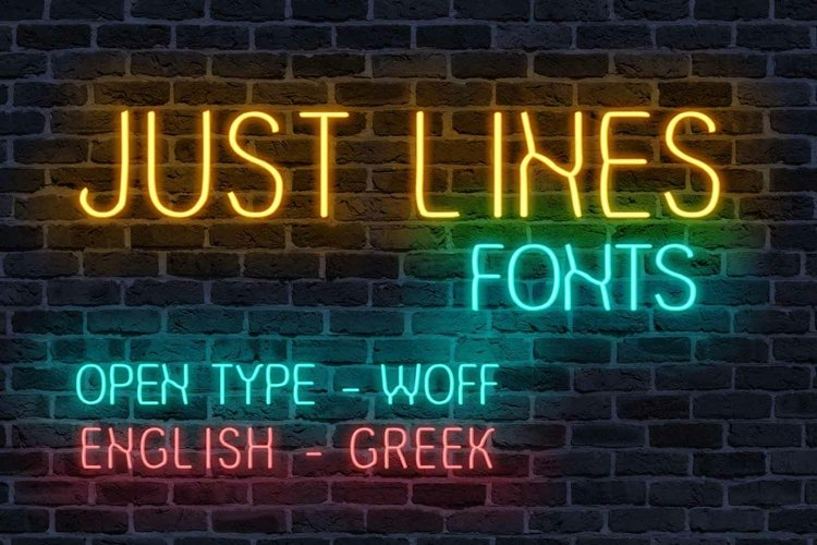 Just Lines Font | Open Type-Woff example image 1