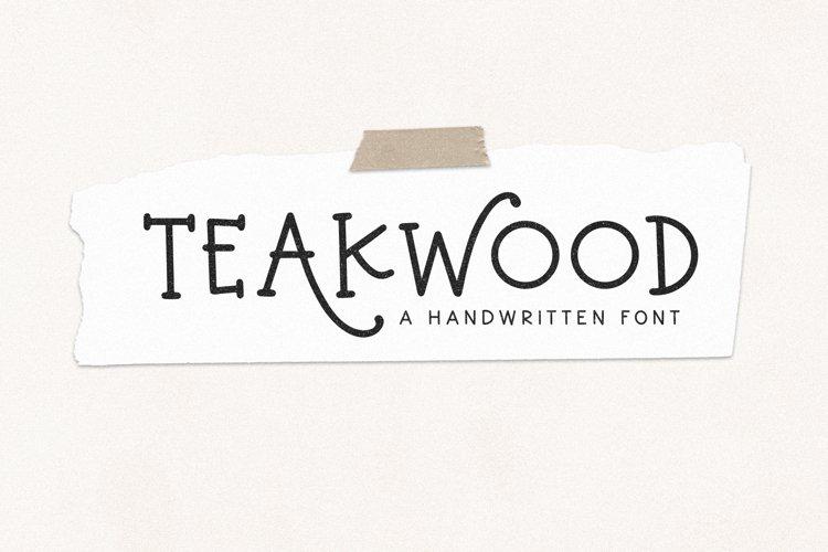 Teakwood - Handwritten Farmhouse Font example image 1