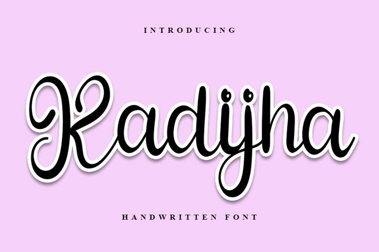 Kadijha - Handwritten Font example image 1