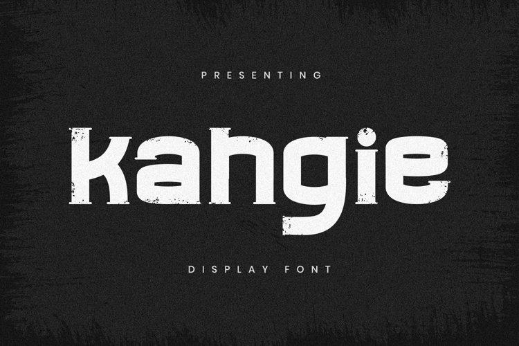 Web Font Kahgie - Display Font example image 1