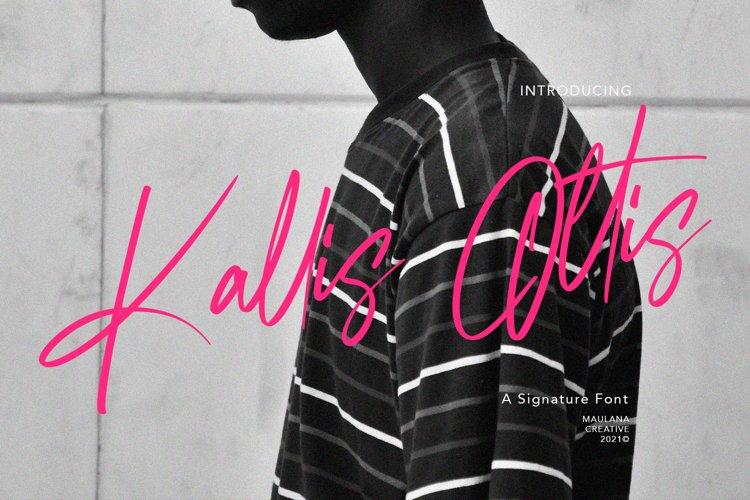Kallis Ottis Signature Font example image 1