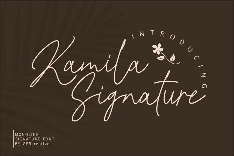 Kamila Signature example image 1