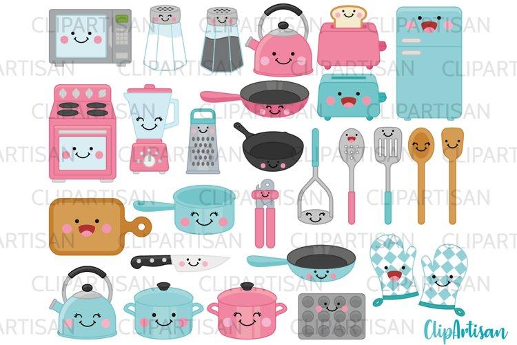 Kawaii Kitchen Clip Art, Cute Cooking Clip Art example image 1