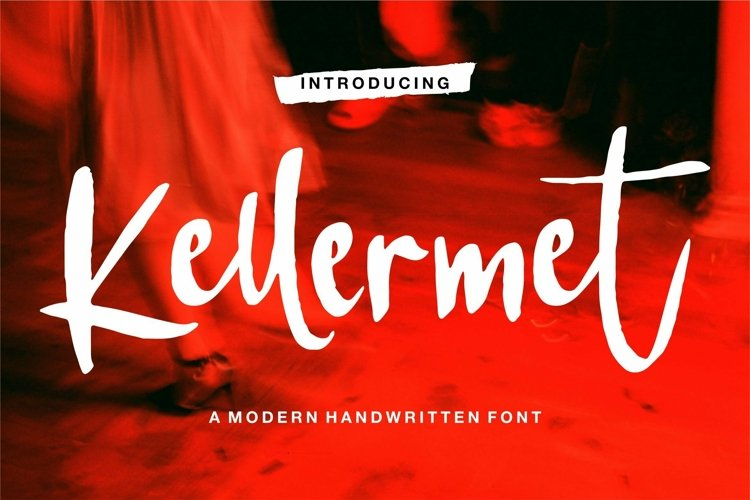 Web Font Kellermet - A Modern Handwritten Font example image 1