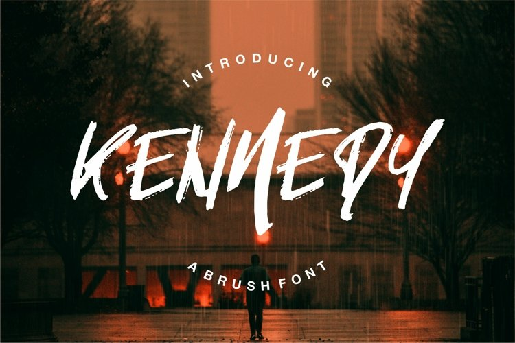 Kenmedy - A Brush Font example image 1