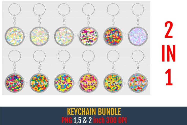 Keychain bundle. Keychain Mermaid scales Patterns Bundle.