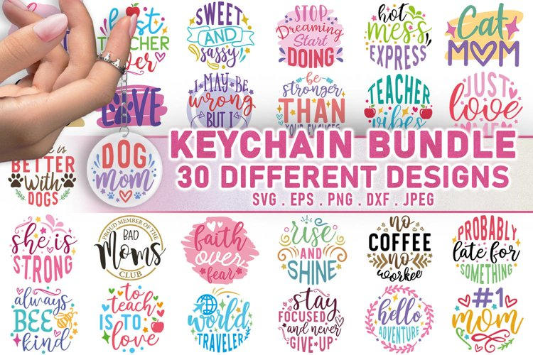 Keychain Bundle SVG, Keychain SVG Quotes example image 1