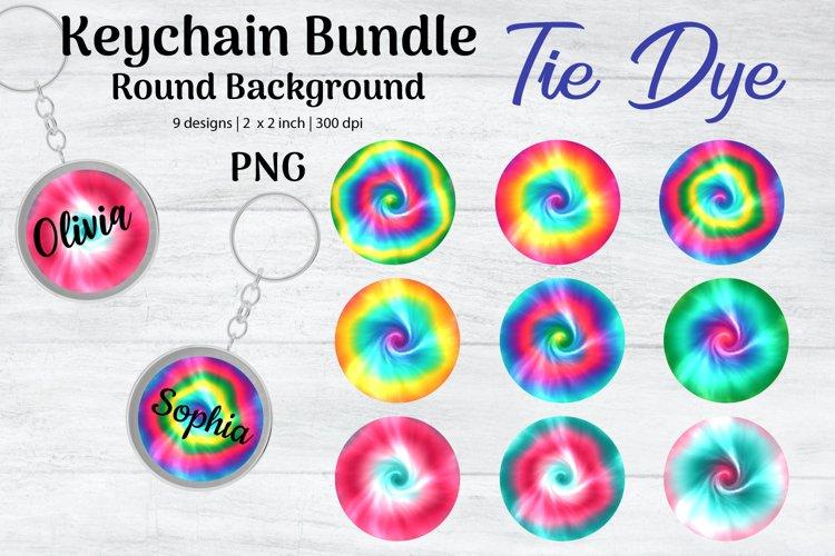 Keychain Bundle Sublimation, Tie Dye Round Background, Key
