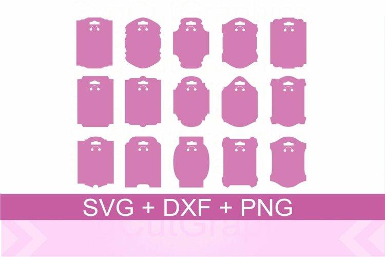 Keyring Display Card SVG DXF PNG