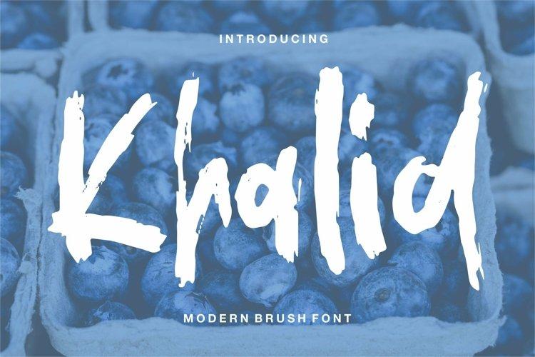 Web Font Khalid - Modern Brush Font example image 1