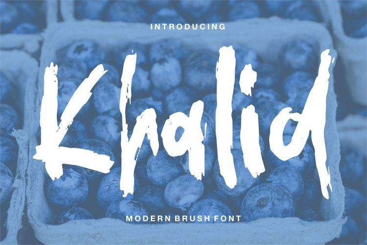 Khalid - Modern Brush Font example image 1