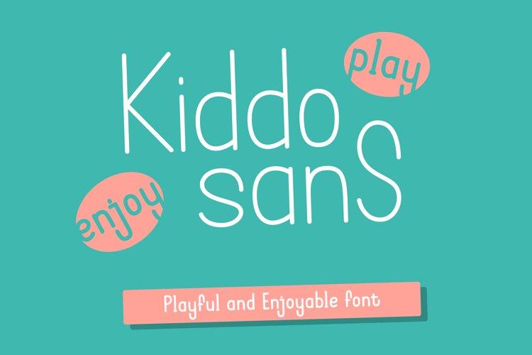 Kiddo Sans - Playful and Enjoyable Sans Font example image 1