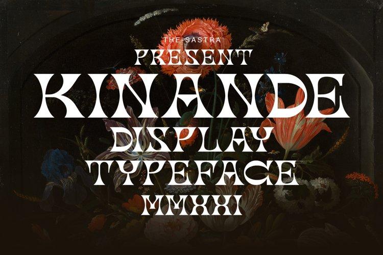 Kinande Display Typeface