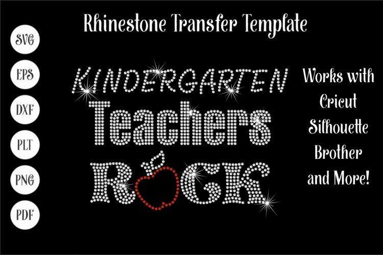 Kindergarten Teachers Rock Rhinestone SVG Template example image 1