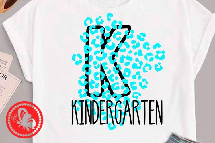 Kindergarten svg Leopard print Back to school Teacher tshirt