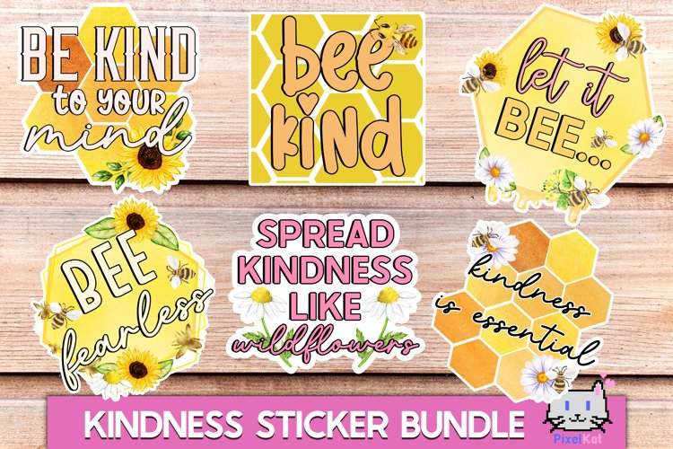 Sticker bundle Kindness sticker bundle Bee sticker bundle example image 1