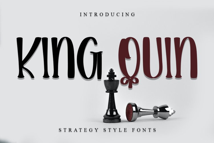 King Quin - Modern Handwritten Font example image 1