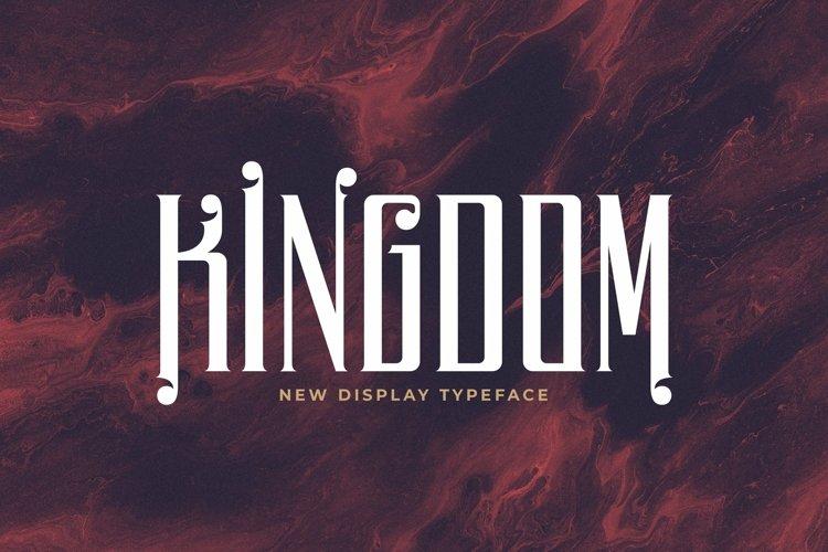 Web Font Kingdom example image 1