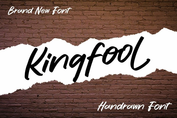 Web Font Kingfool - Handrawn Font example image 1