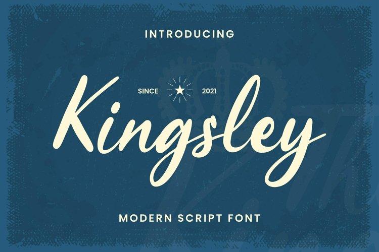 Web Font Kingsley example image 1
