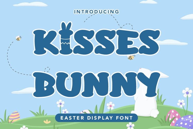 Kisses Bunny - Easter Display Font example image 1