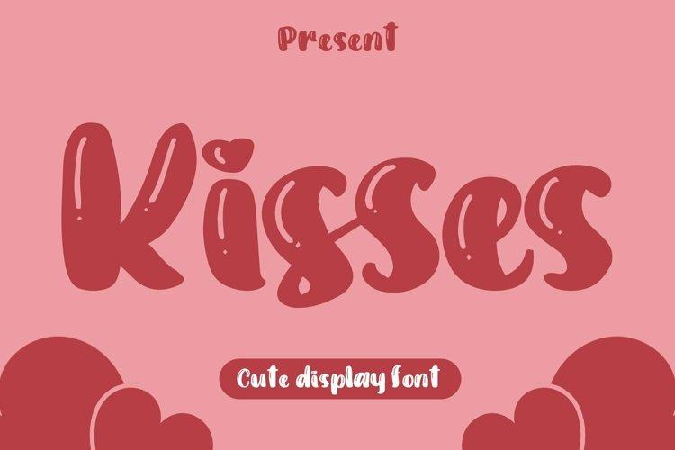 Web Font Kisses - Cute Display Font example image 1