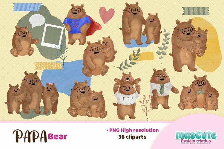 papa bear clipart, dad,fathers day