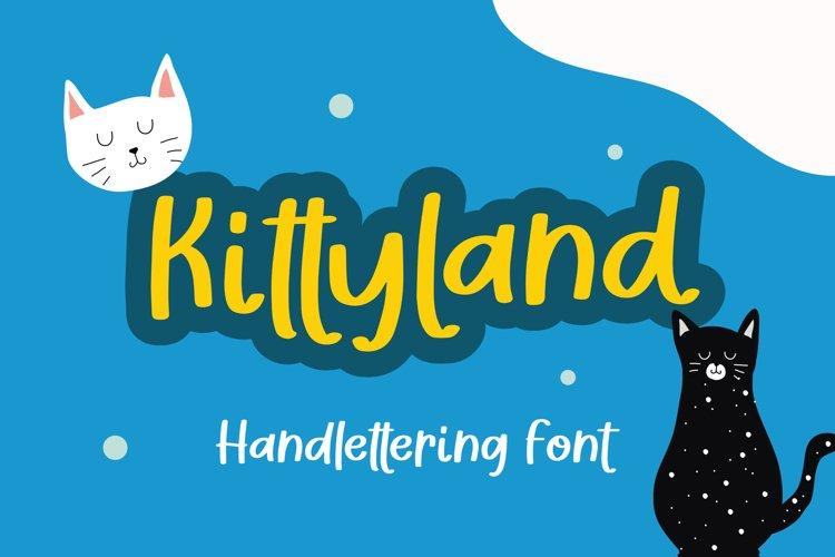 Kittyland - Handlettering Font example image 1