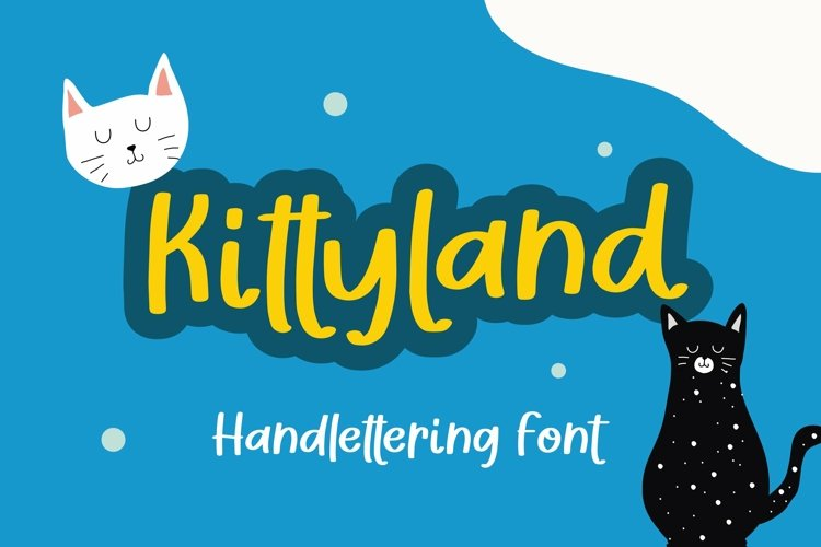 Web Font Kittyland - Handlettering Font example image 1