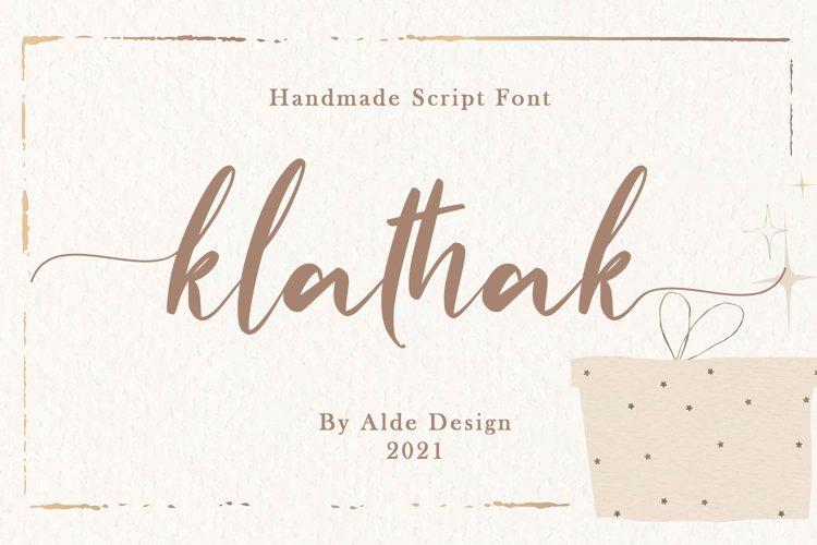 Klathak // Modern Script