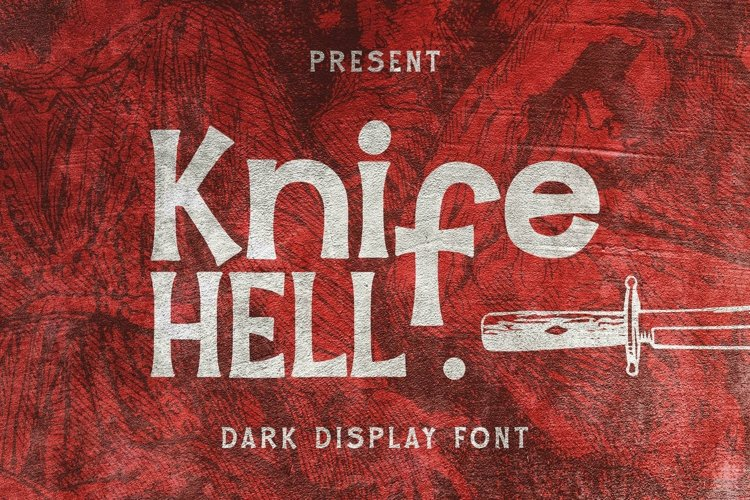 Web Font Knife Hell Font example image 1