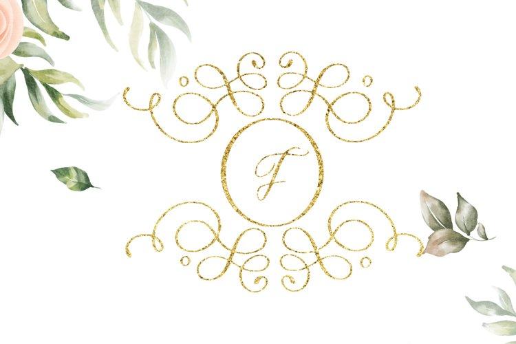 swirl monogram decorative example image 1