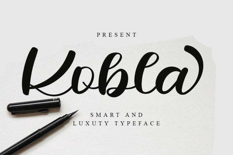Kobla - Luxury Script Font example image 1