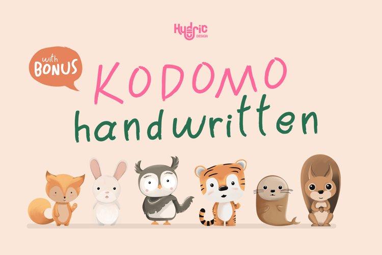 Kodomo Handwritten example image 1