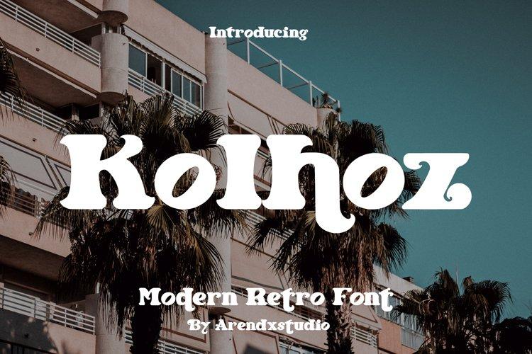 Kolhoz - Modern Retro Font example image 1