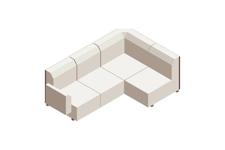 Sofa icon, isometric style example image 1