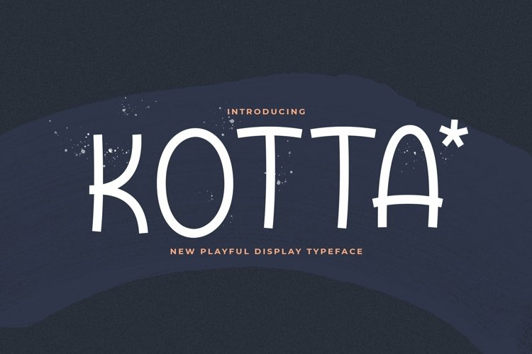 Web Font Kotta example image 1