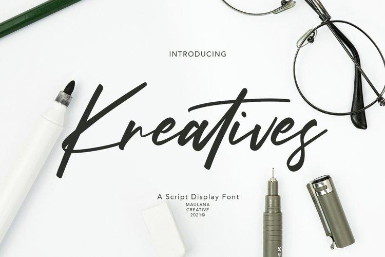 Kreatives Script Display Font example image 1