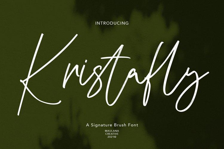 Kristafly Signature Brush Font example image 1