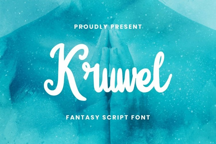 Web Font Kruwel Font example image 1