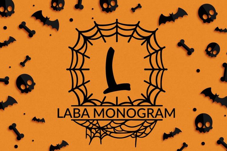 Laba Halloween Monogram example image 1