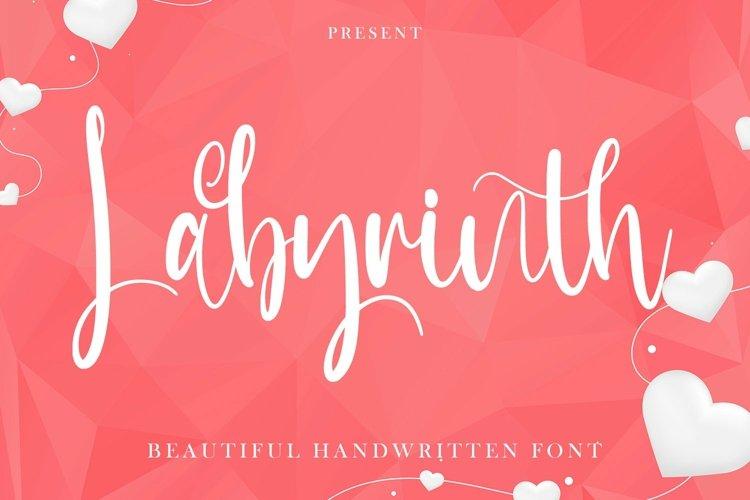 Web Font Labyrinth - Beautiful Handwritten Font example image 1