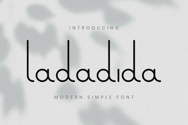 Web Font Ladadida Font example image 1