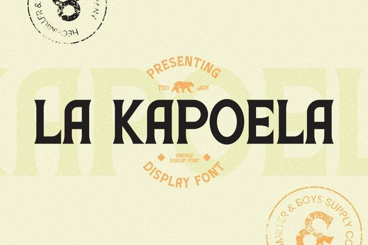 Web Font LaKapoela