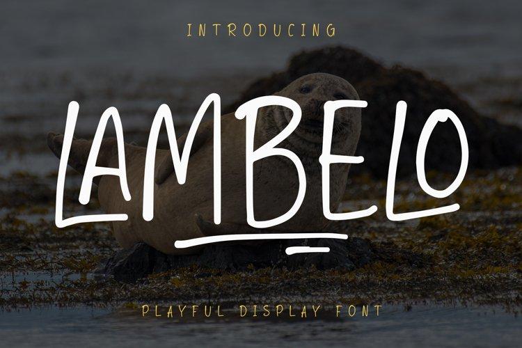 LAMBELO - Display Font example image 1