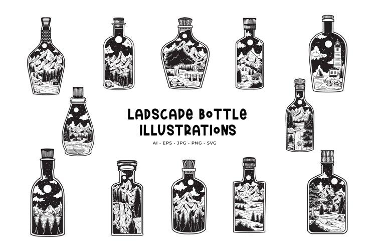 Landscape Bottle Illustrations