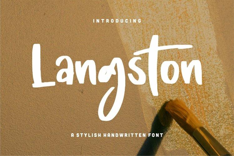 Langston - A Stylish Handwritten Font example image 1